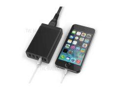 8А 5-Порт USB зарядное устройство Смарт-настольное Зарядная станция - черный