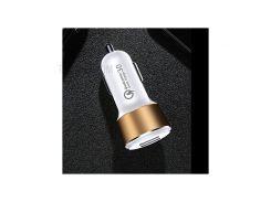 JOYROOM CC-032 QC3.0 2.4A Два USB Порта Автомобильное Зарядное Устройство Для Iphone Samsung Huawei Xiaomi И Т. Д. - Белый