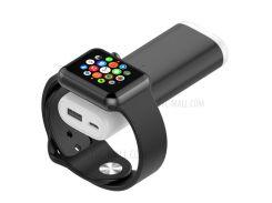 Магнитное Беспроводное Зарядное Устройство + Внешний Аккумулятор Для Apple Watch, Samsung Xiaomi Huawei И Т. Д. - Черный
