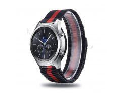 Ремешок Из Нержавеющей Стали С Камуфляжным Ремешком Для Часов Samsung Galaxy 46mm / Samsung Gear S3 Classic / S3 Frontier - Черный Красный