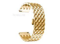 Для Huawei Смотреть GT / Часы Samsung Galaxy 46мм / Samsung Gear S3 Frontier / Снаряжение S3 Граница 22мм S3 Сплав Бабочка Застежка Ремешок Браслет - Золото