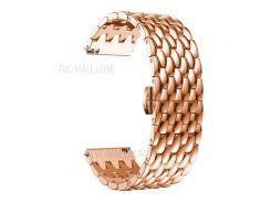 Для Huawei Смотреть GT / Часы Samsung Galaxy 46мм / Samsung Gear S3 Frontier / Снаряжение S3 Граница 22мм S3 Сплав Бабочка Застежка Ремешок Браслет - Розовое Золото
