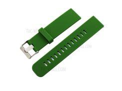 Силиконовый Ремешок На 18 Мм Для Asus ZenWatch 2 - Зеленый