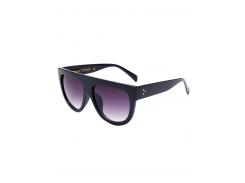 Simple Full-Rim Black Sunglasses
