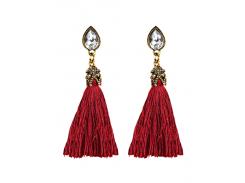 Rhinestone Tassel Water Drop Earrings
