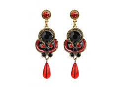 Rhinestone Faux Gem Bead Drop Earrings