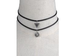 Faux Leather Geometric Chokers