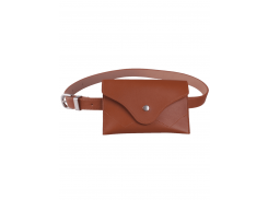 Pin Buckle Faux Leather Waist Belt Bag