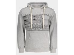 Chest Pocket Tribal Print Pullover Hoodie