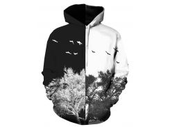Tree 3D Print Pullover Hoodie Men Clothes
