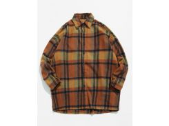 Woolen Plaid Pattern Warmth Shirt