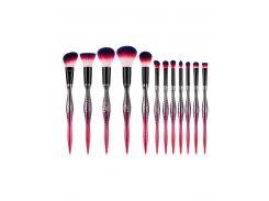 12 Pcs Gradient Color Handles Eyeshadow Blush Powder Brush Set