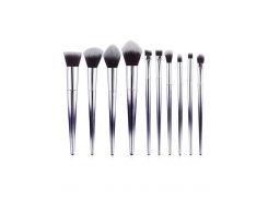 Cosmetic 10Pcs Cone Shaped Handles Ultra Soft Makeup Brush Set