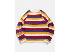 Colorblock Stripe Loose Fit Sweater