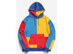 ZAFUL Color Block Pocket Hoodie