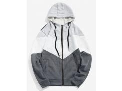 Contrast Full Zipper Fleece Jacket
