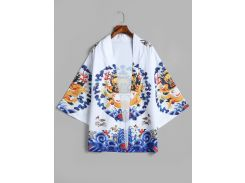 Dragon Print Kimono Cardigan