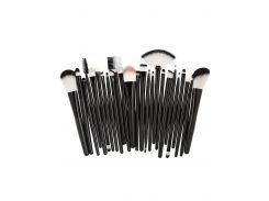 25Pcs Synthetic Fiber Hair Makeup Brush Collection