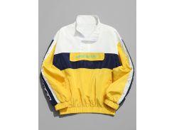 Contrast Windbreaker Lightweight Pullover Jacket
