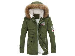 Faux Fur Hood Fluffy Lined Jacket