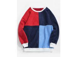 ZAFUL Color Block Suede Sweatshirt