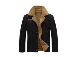 Button Up Appliques Plush Jacket