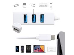 USB 3.1 Type C To 4-Port USB 3.0 Hub Adapter High Speed