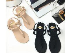 Новые стильные сандалии с плоской базой лаконичного стиля Обувь Женские флип-флоп сандалии заклепки Рим Сандалии студенты мода T обувь
