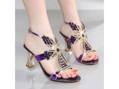 2017 новые богемные сандалии женские высокие каблуки летние бриллианты инкрустированные бриллиантами сандалии кожаные высокие каблуки