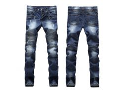 Горячие продажи Ripped Skinny Jeans Fashion Designer Mens Shorts Jeans Slim Motorcycle Moto Biker Причинные мужские джинсовые брюки Hip Hop Men's Jeans
