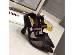 Женщины многоцветный технические сетки босоножки кожа высокие каблуки насос 35-42