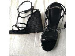 Летние модные льняные вязаные сандалии кожаные швейные женские туфли классическ