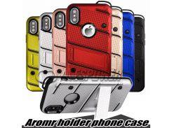 Чехол Hybrid Armor Мягкий ТПУ ПК для телефона Держатель для Нового IPhone X 8 plus Note 9 LG Stylo 4 Sty