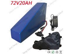 72V 20AH треугольник литиевая батарея 72V 3000W использовать литиевый аккумулятор LG Cell 72