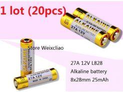 20pcs 1 серия 27A 12V 27A12V 12V27A L828 сухая щелочная батарея 12 вольтов Бесплатная доставка