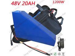 Треугольная форма Литиевая батарея 48V 20AH 1200W Электрический велосипед Батарея 48V 20A