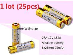 25pcs 1 серия 27A 12V 27A12V 12V27A L828 сухая щелочная батарея 12 вольтов Бесплатная доставка