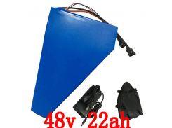 48V 1000W Треугольный аккумулятор 48V 22AH электрический велосипедный аккумулятор 48v 22ah