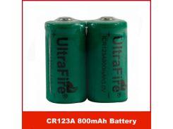Бесплатная DHL / EMS/100 шт. / лот UltraFire ICR123A CR123A 800 мАч 3 в литиевая аккумуляторная батаре
