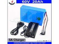 Литиевая аккумуляторная батарея 60 В 20Ah Электрический велосипед Батарея 60 В для 200