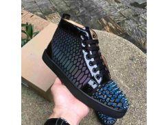 Дизайнерская обувь Spike Младший теленок с низким вырезом Mix Red Bottom Sneaker Роскошные св