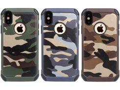 Армия камуфляж камуфляж Hybird Armor телефон чехол для iPhone 7 плюс iphone x 8 6S Samsung s8 S9 примеч