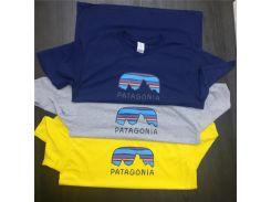 PATAGONIA печати мужская женская мода Марка футболки лето с коротким рукавом топы эки