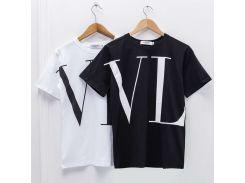 VL краткое Tee футболки для мужчин женщин бренд дизайнер футболки Мужчины Женщины П
