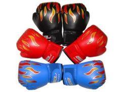 Спарринг Тренировка Flame Кожаные перчатки Kid Child Боксерские перчатки Пробивая мешо