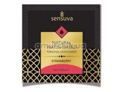 Лубрикант Sensuva Natural Water-Based Strawberry - клубника, 6 мл