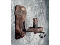 Настенный светильник бра из дерева