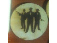 Мафия №1 - Деревянный значек, сувенир