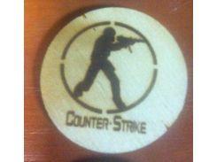 Counter Strike - Деревянный значек, сувенир