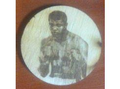 Мохаммед Али (Muhammad Ali) - Деревянный значек, сувенир